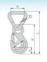 YF062 Triangel Hook With Safety Latch
