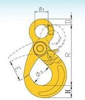 YF081 G80 Eye Self-Locking Safety Hooks – European Type
