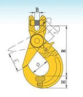 YF082 G80 Clevis Self-Locking Safety Hooks – European Type
