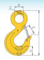 YF097 G80 Italian Type Eye Sling Hook Carbon Steel