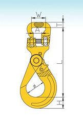 YF110 G80 Self-locking Round Slings Hook & Flat Web Coupler