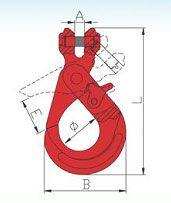 YF248 G80 Clevis Self-locking Safety Hook Italian Type