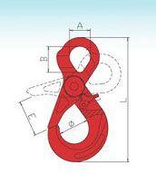 YF289 G80 Eye Self-Locking Hooks – Italian Tpye