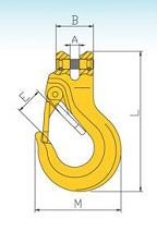 YF329 G80 Clivis Slip Hook With Safety Latch