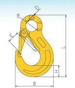 YF334 G80 European Type Eye Slip Hook